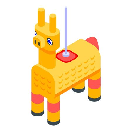 Mexican goat icon, isometric style