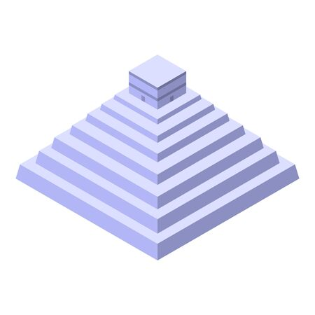 Mexican pyramid icon, isometric style