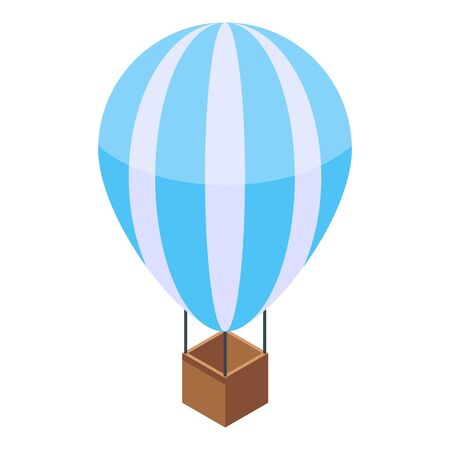 Hot air ballon icon. Isometric of hot air ballon vector icon for web design isolated on white background