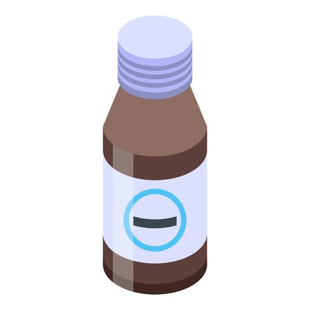 Child cough syrup icon. Isometric of child cough syrup vector icon for web design isolated on white background 向量圖像