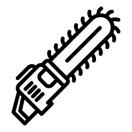 Garden chainsaw icon, outline style Illustration