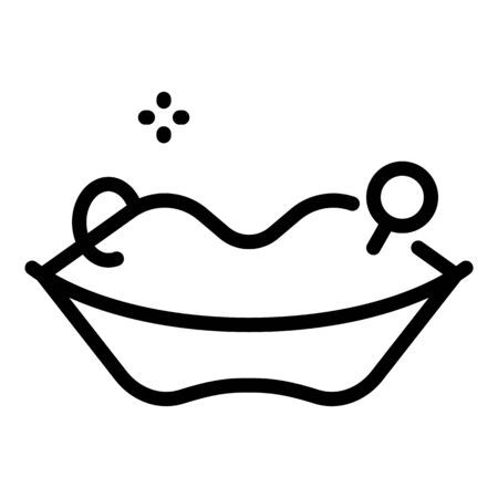 Lips piercing icon, outline style
