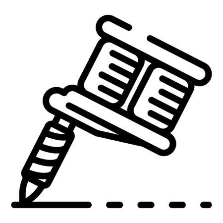 Tattoo machine icon, outline style