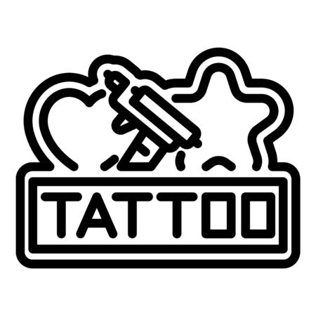 Tattoo public stand icon, outline style
