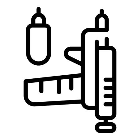 Tattoo pistol machine icon, outline style