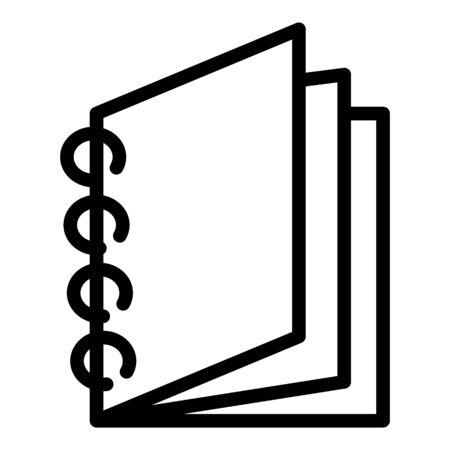 School notebook icon, outline style Vector Illustratie