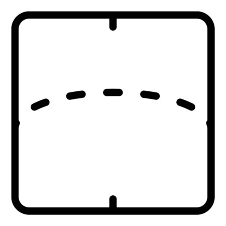 Flexible screen display icon, outline style