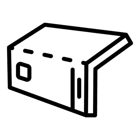 Flex screen icon, outline style