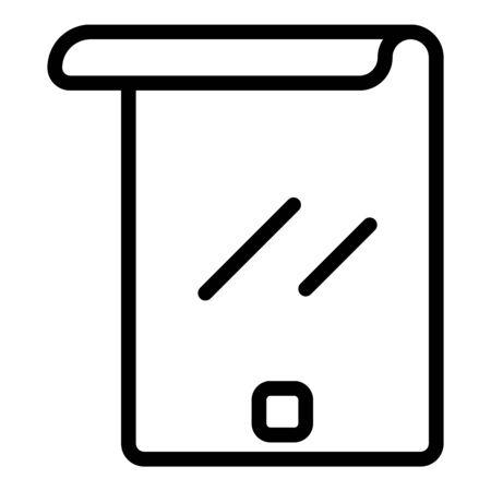 Flex modern screen icon, outline style