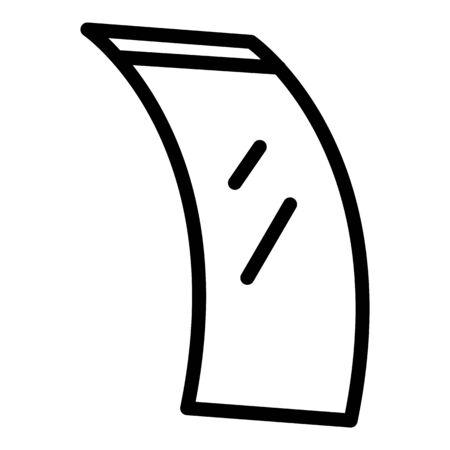 Smart flex screen icon, outline style Ilustração