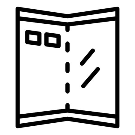 Folding screen icon, outline style