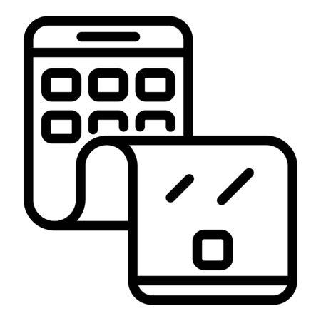 Flex phone cellular icon, outline style