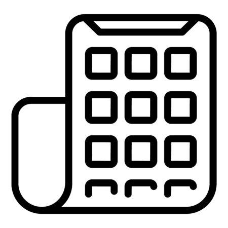 Flexible display icon, outline style Ilustração