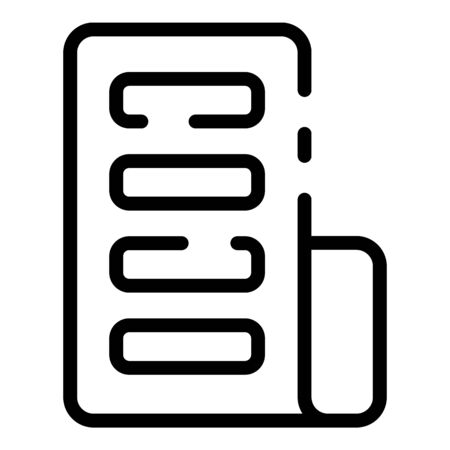 Tablet flex screen icon, outline style