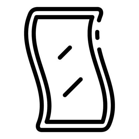 Future flex screen icon, outline style