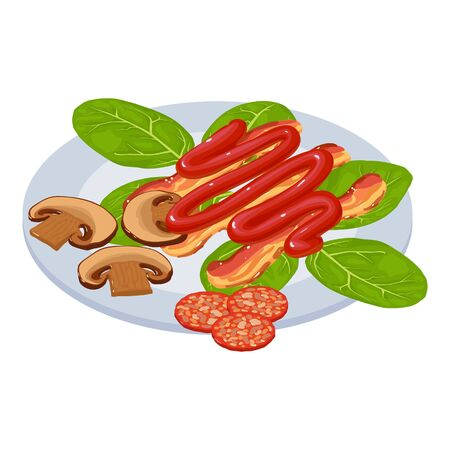 Appetizer icon. Isometric illustration of appetizer vector icon for web