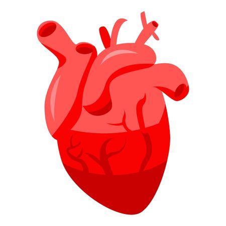 Healthy human heart icon, isometric style