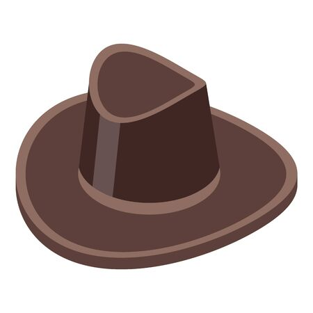 Cowboy hat icon, isometric style Illustration