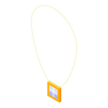 Jewelry necklace icon. Isometric of jewelry necklace vector icon for web design isolated on white background