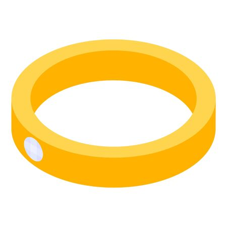 Married gold ring icon. Isometric of married gold ring vector icon for web design isolated on white background