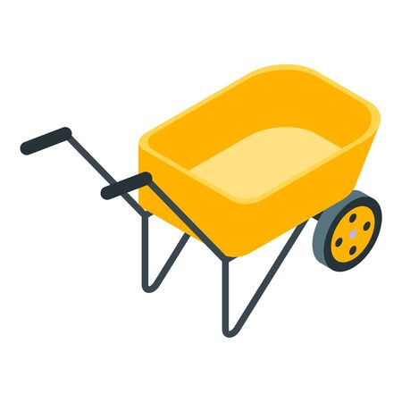 Garden wheelbarrow icon, isometric style Standard-Bild - 140200291