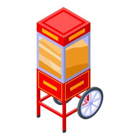 Popcorn cart icon, isometric style Standard-Bild - 140200299