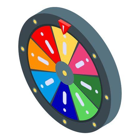 Lucky wheel icon, isometric style