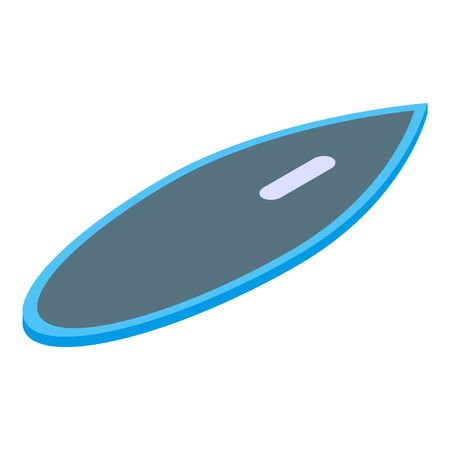 Water surfboard icon, isometric style