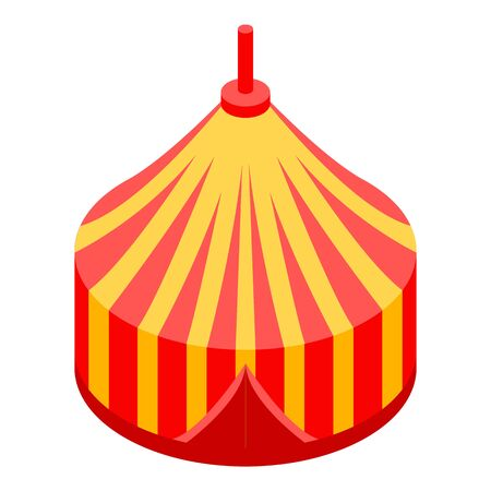 Circus tent icon. Isometric of circus tent vector icon for web design isolated on white background Ilustrace