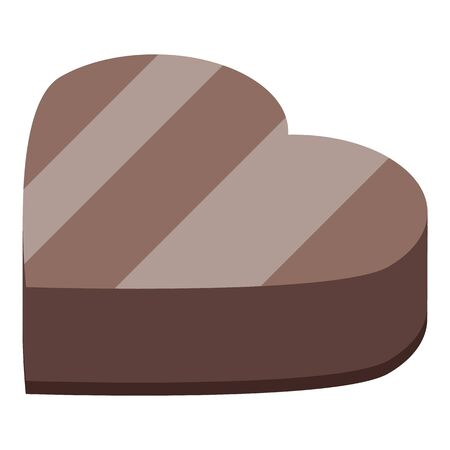 Heart shape chocolate icon. Isometric of heart shape chocolate vector icon for web design isolated on white background