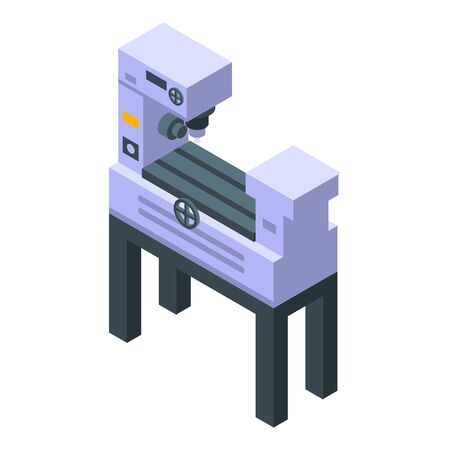 Drilling machine icon, isometric style
