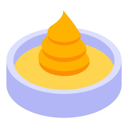 Burger sauce icon. Isometric of burger sauce vector icon for web design isolated on white background
