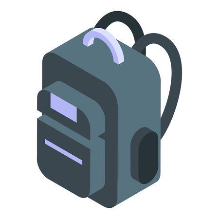 Professional backpack icon, isometric style