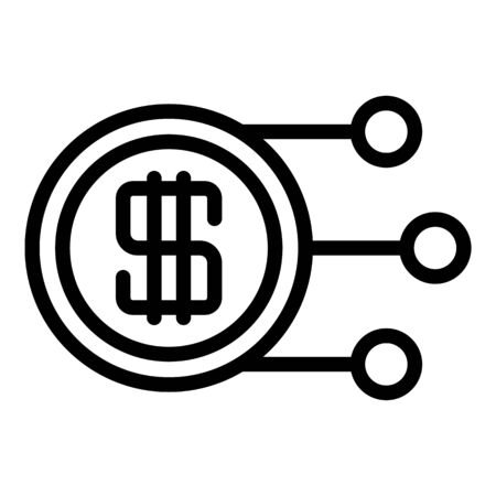 Tax regulation icon, outline style