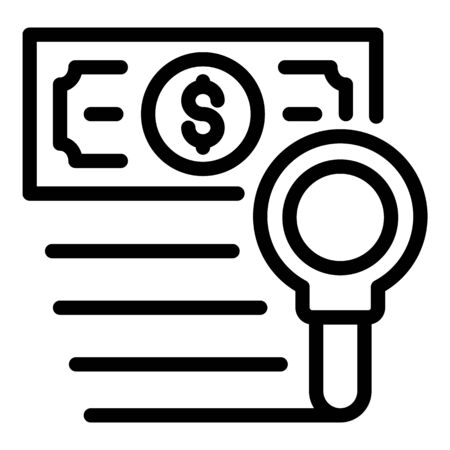 Money cash tax icon, outline style