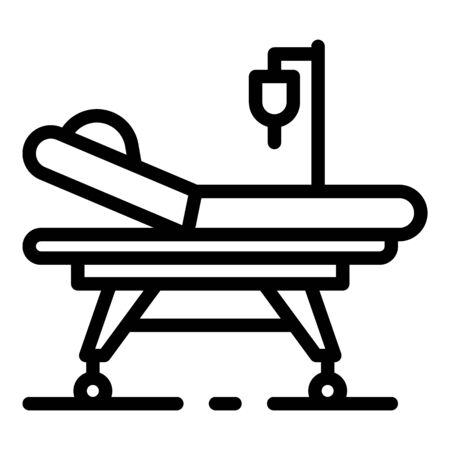 Anesthesia bed icon, outline style