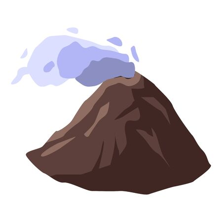 Hike volcano icon. Isometric of hike volcano vector icon for web design isolated on white background 向量圖像