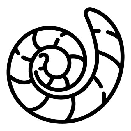 Ground worm icon, outline style