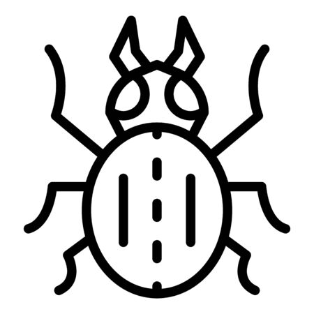 Field bug icon, outline style