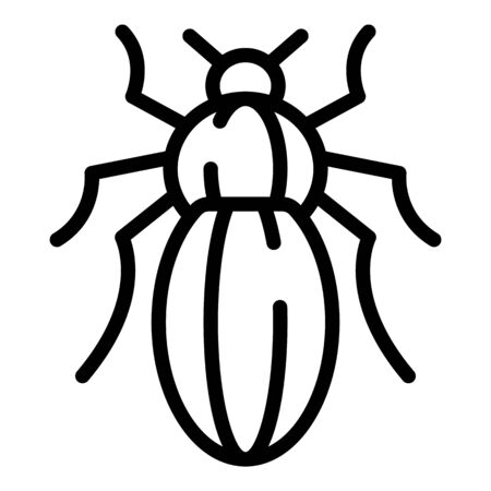 Infection bug icon, outline style