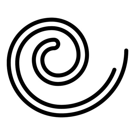 Slim worm icon, outline style