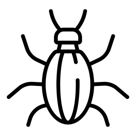 Nature bug icon. Outline nature bug vector icon for web design isolated on white background Archivio Fotografico - 140201291