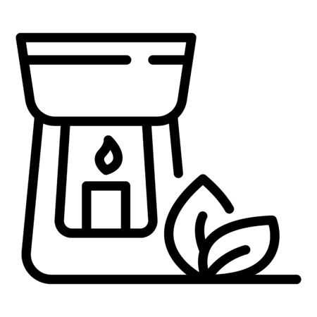 Wellness candle icon, outline style