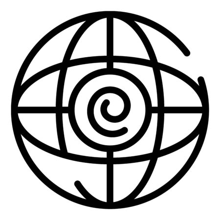Global hypnosis icon, outline style 일러스트