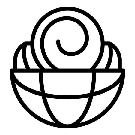 International hypnosis icon, outline style