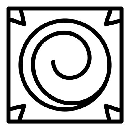 Square hypnosis icon, outline style