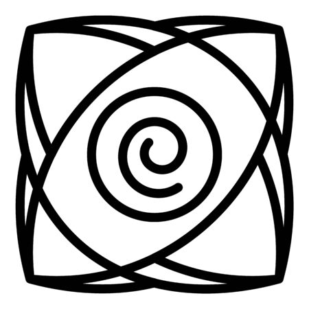 Spiral hypnosis icon, outline style