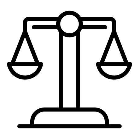 Judge balance icon, outline style