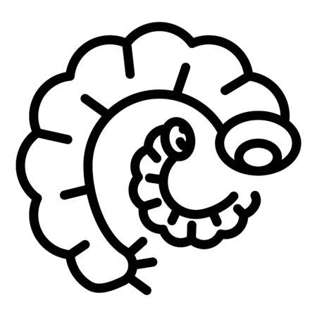 Worms icon, outline style Archivio Fotografico - 140202861