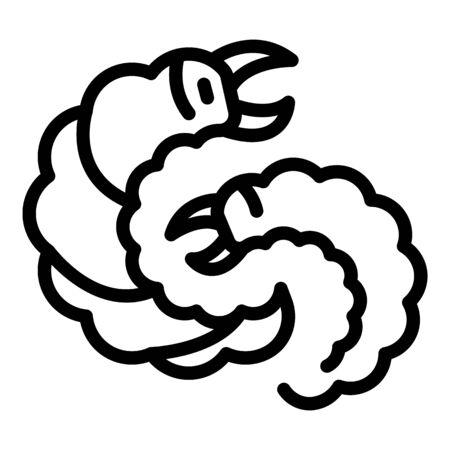Farm parasite icon, outline style Archivio Fotografico - 140201318